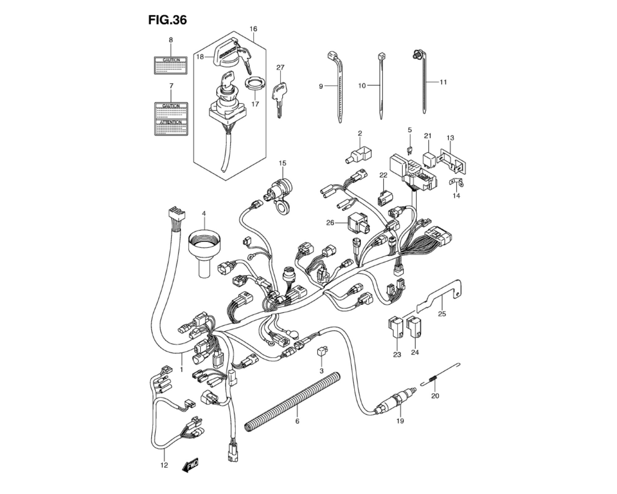 hight resolution of wiring harness motor anbauteile lta 750 kingquad mit eps 2009 2010 mit servolenkung ersatzteile suzuki lta 750 king quad ersatzteile suzuki