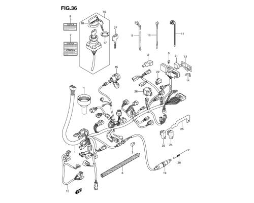 small resolution of wiring harness motor anbauteile lta 750 kingquad mit eps 2009 2010 mit servolenkung ersatzteile suzuki lta 750 king quad ersatzteile suzuki