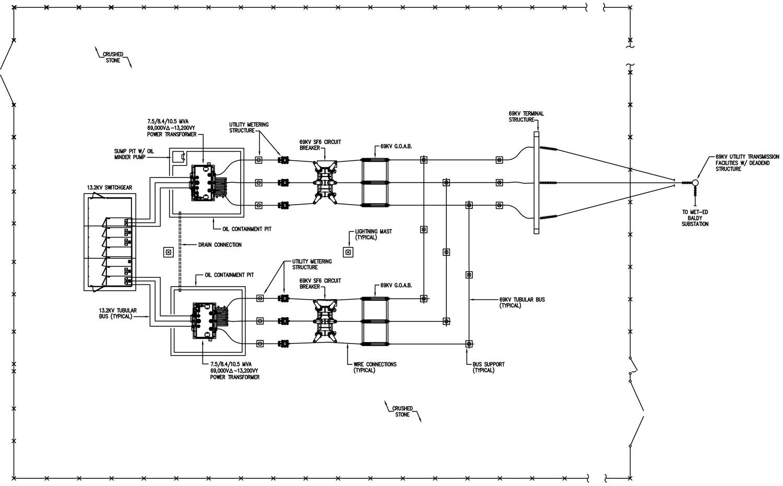 hight resolution of 69kv 13 2kv substation feasibility design