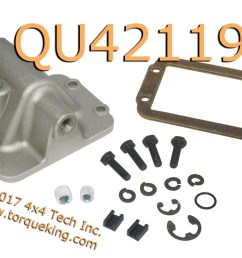 qu42119 replacement cad axle shift housing kit aluminum housing is used to replace broken or damaged housings on your heavy duty ram fits all 1994 dodge  [ 2000 x 1370 Pixel ]
