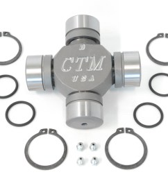 tk42117 greaseable and rebuildable ctm 1480wj series performance axle u joint for dodge dana 60 beam type front axles  [ 2608 x 2188 Pixel ]