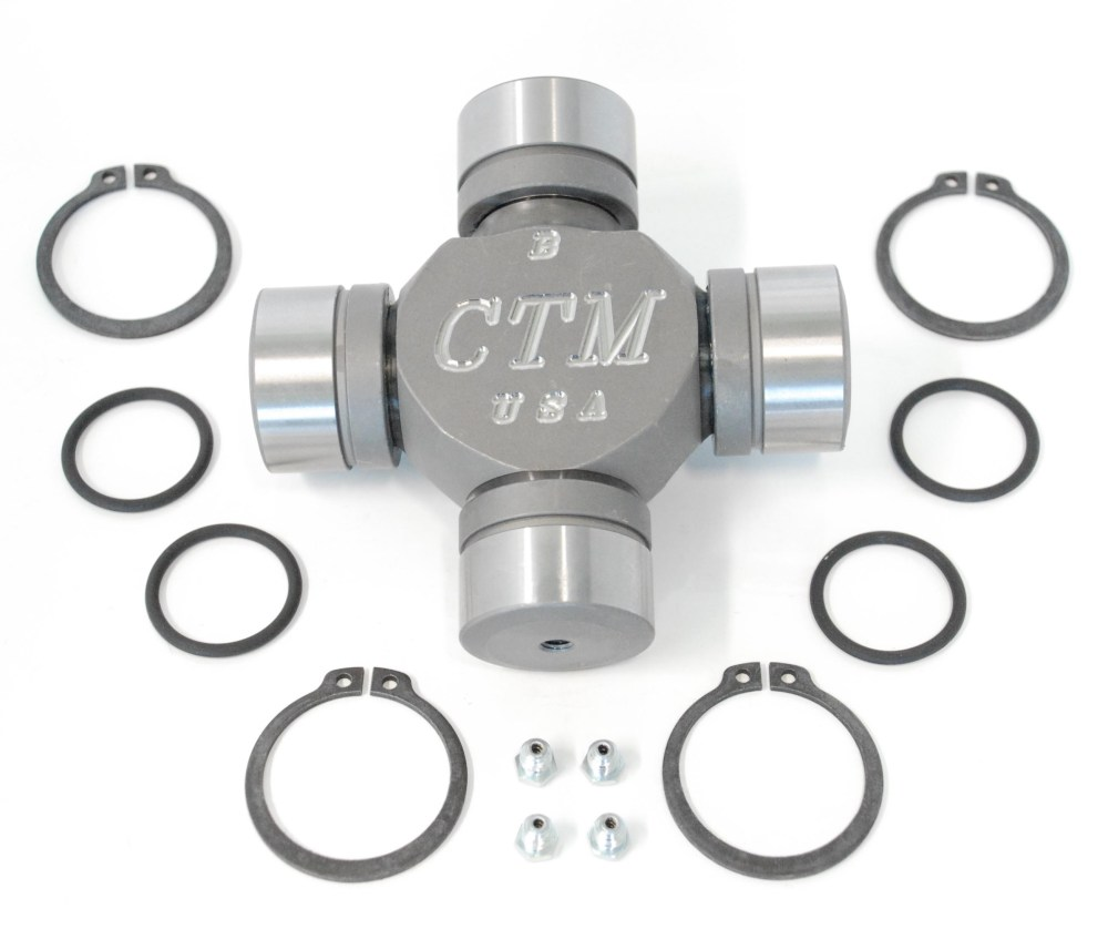 medium resolution of tk42117 greaseable and rebuildable ctm 1480wj series performance axle u joint for dodge dana 60 beam type front axles