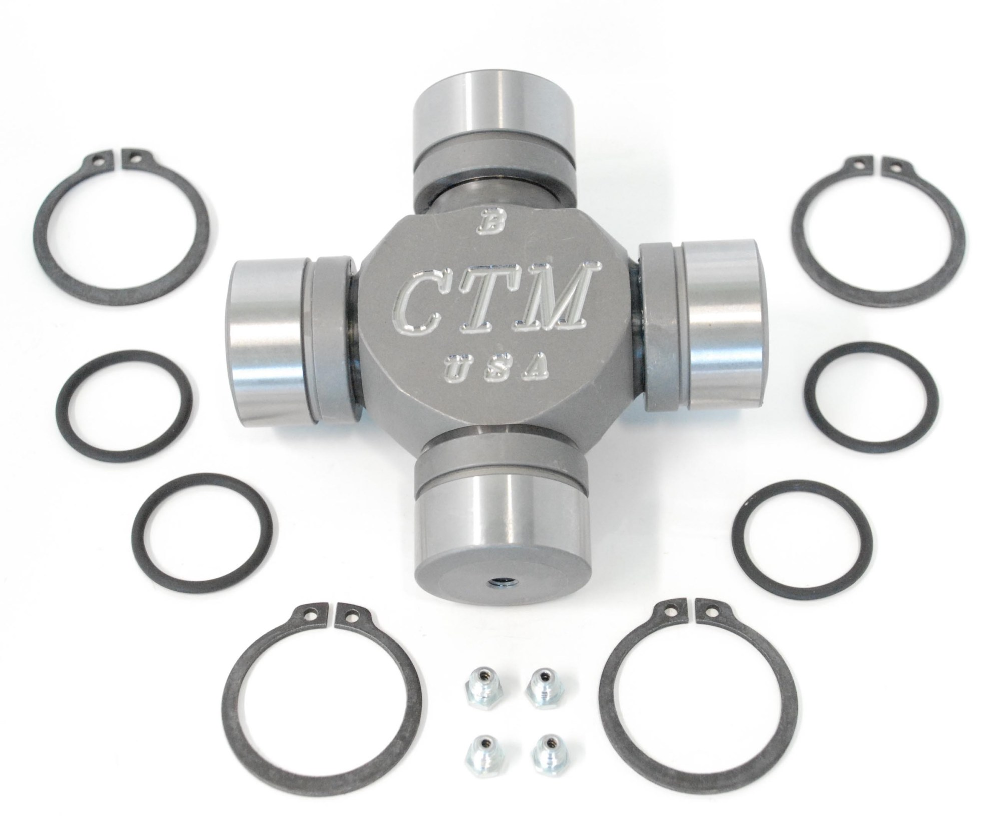 hight resolution of tk42117 greaseable and rebuildable ctm 1480wj series performance axle u joint for dodge dana 60 beam type front axles