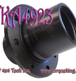 tka4923 torque king 1995 1997 f250 f350 4x4 front hub is a new front wheel hub with timken bearing cups for 1995 1997 ford f250 dana 50ifs and 1995 1997  [ 2000 x 1490 Pixel ]