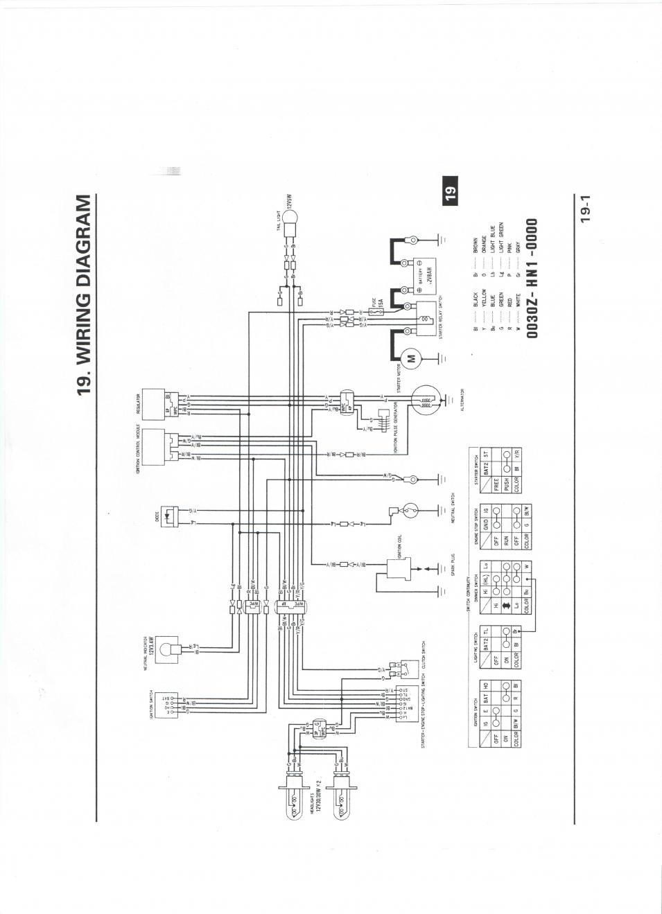 Free Honda 400 Atv Wiring Diagram Auto Electrical 2002 400ex 2001 31 Images
