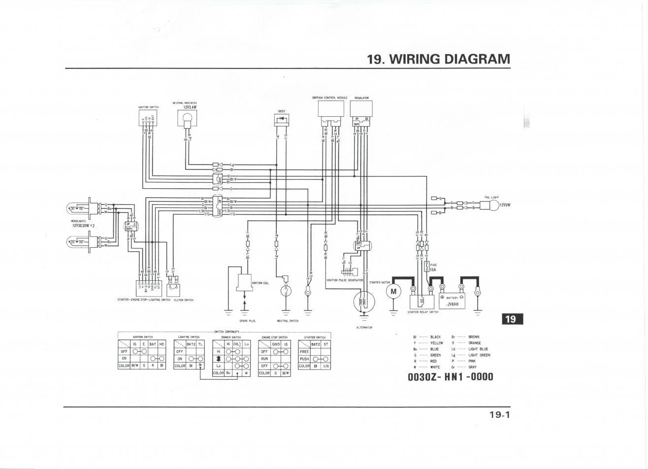 honda foreman wiring diagram schematic