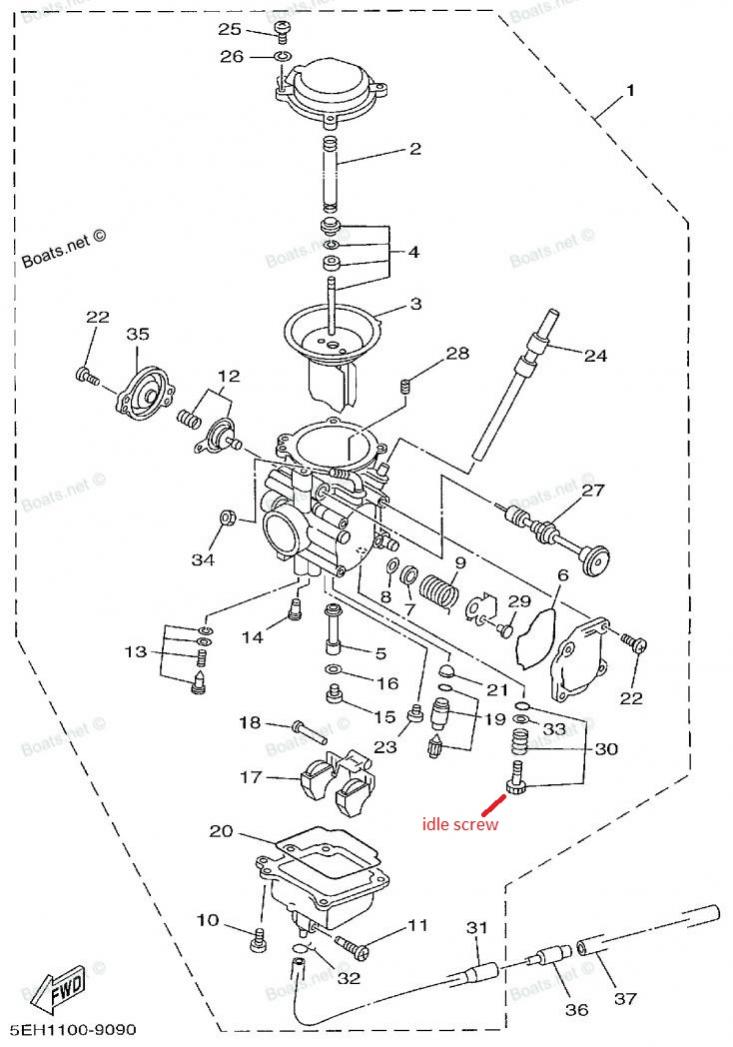 2002 Yamaha Kodiak 400 Carburetor Diagram 2002 Polaris