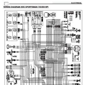 2005 Polaris Sportsman 700 EFI & 800 EFI Wiring Diagram