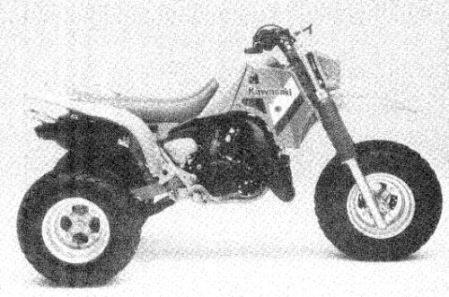 1985 Kawasaki KXT250 Tecate ATC Service Manual Supplement