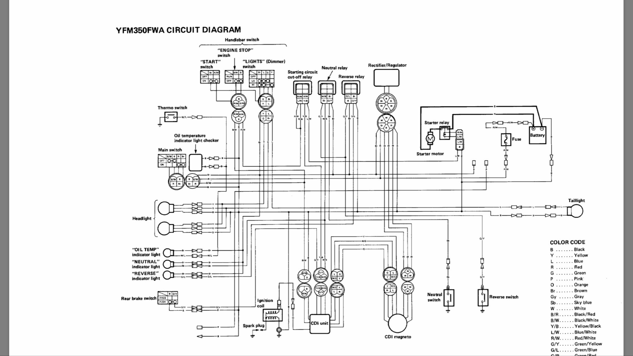 [DIAGRAM] Yamaha 350 Big Bear 4x4 Project Wiring Diagram