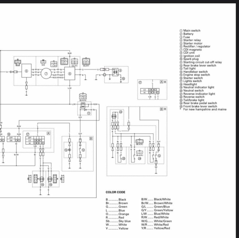 Yamaha 250 Bear Tracker Wiring Diagram / 4 Wire Ignition
