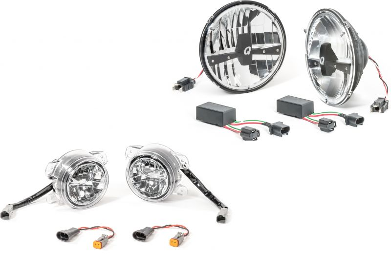 Quadratec LED Headlamp Upgrade Conversion & LED Fog Lights
