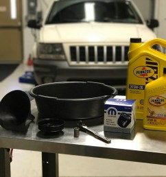 how to do an oil change on a 1999 2004 grand cherokee 4 7l v8 [ 2000 x 1500 Pixel ]