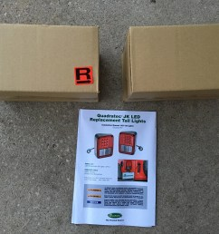 now as far as installation goes quadratec s led tail lamps arrive in boxes with labels indicating left and right side and include c shaped adapter  [ 2000 x 1500 Pixel ]