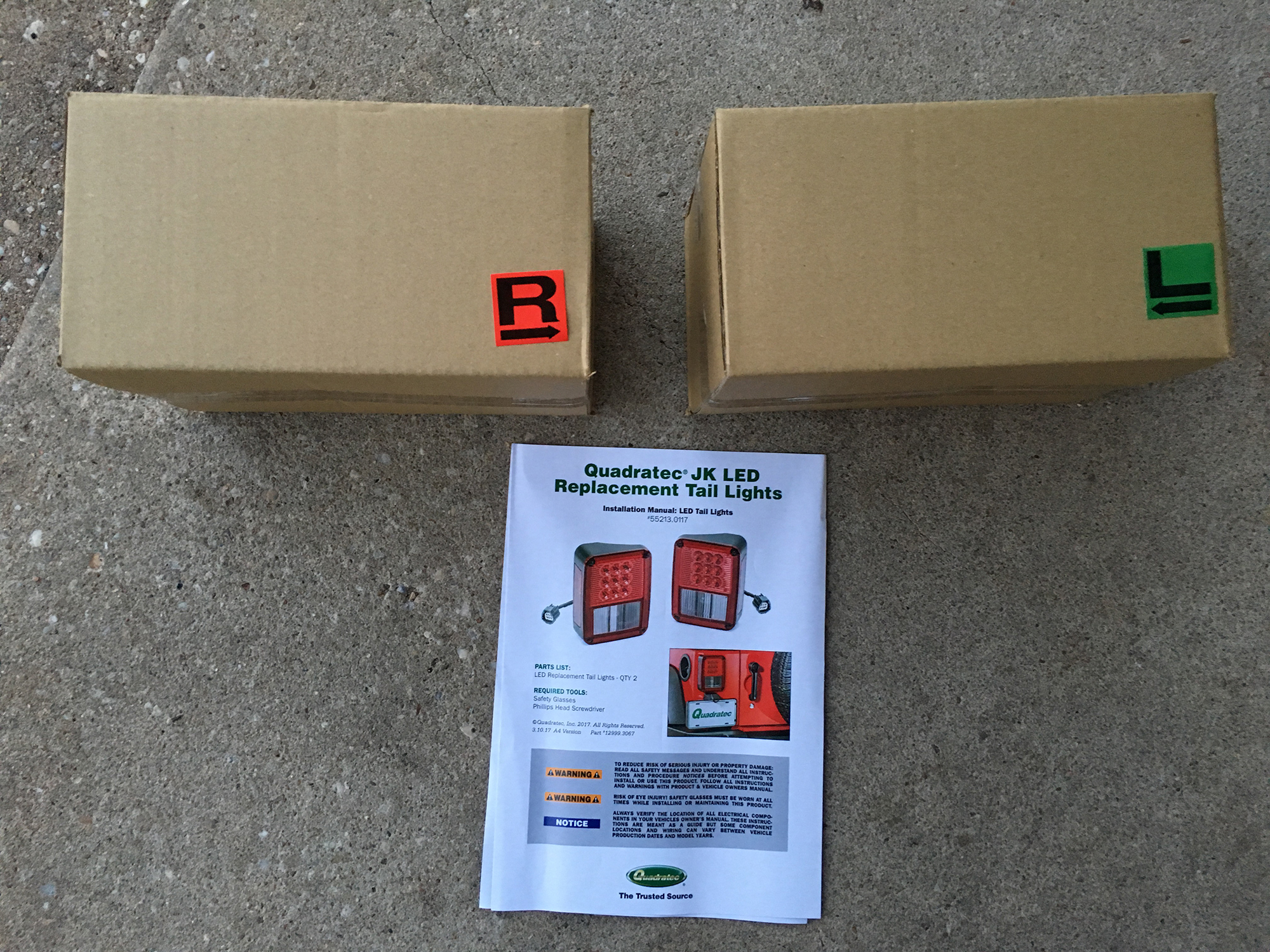 hight resolution of now as far as installation goes quadratec s led tail lamps arrive in boxes with labels indicating left and right side and include c shaped adapter