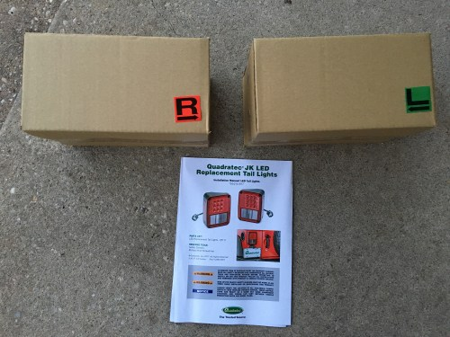 small resolution of now as far as installation goes quadratec s led tail lamps arrive in boxes with labels indicating left and right side and include c shaped adapter