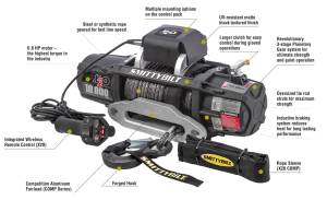 Smittybilt 98510 X2O10 Comp Gen2 Winch with Synthetic Line | Quadratec