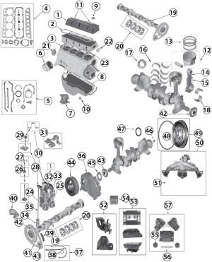 19832002 Jeep 25L (150ci) Inline 4 Cylinder Engine