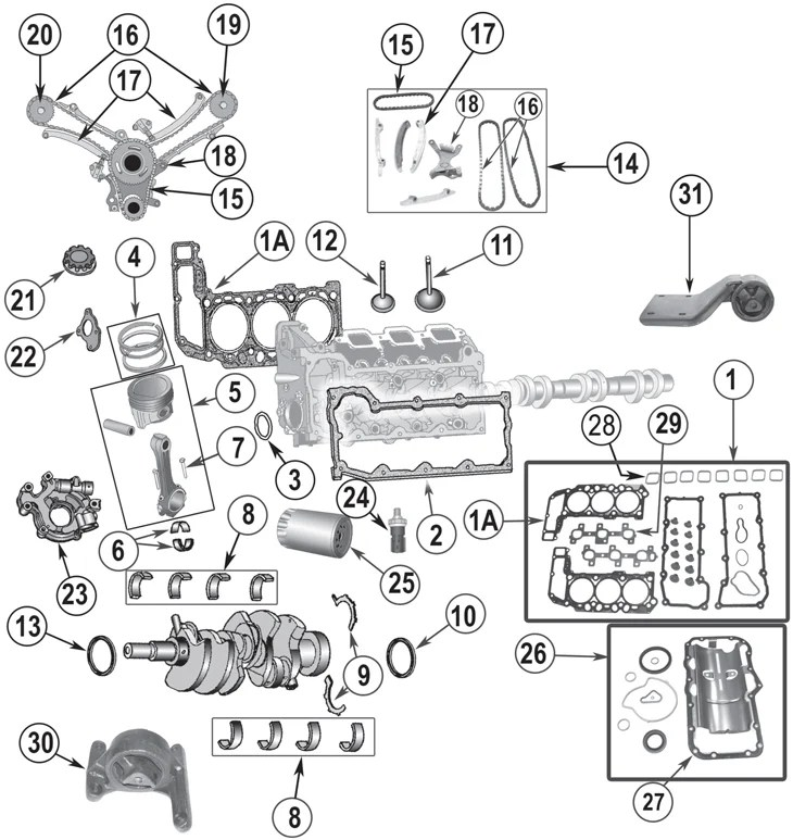 2002-2012 Daimler-Chrysler Jeep 3.7L 6 Cylinder Engine