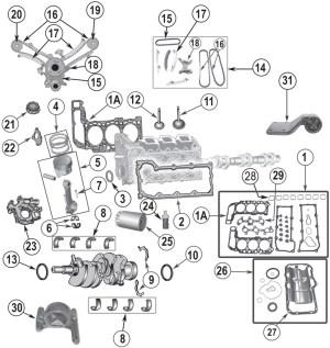20022012 DaimlerChrysler Jeep 37L 6 Cylinder Engine