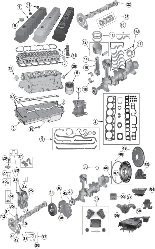 small resolution of 1987 2006 jeep 4 0l 242ci inline 6 cylinder engine replacement1987 2006 jeep 4