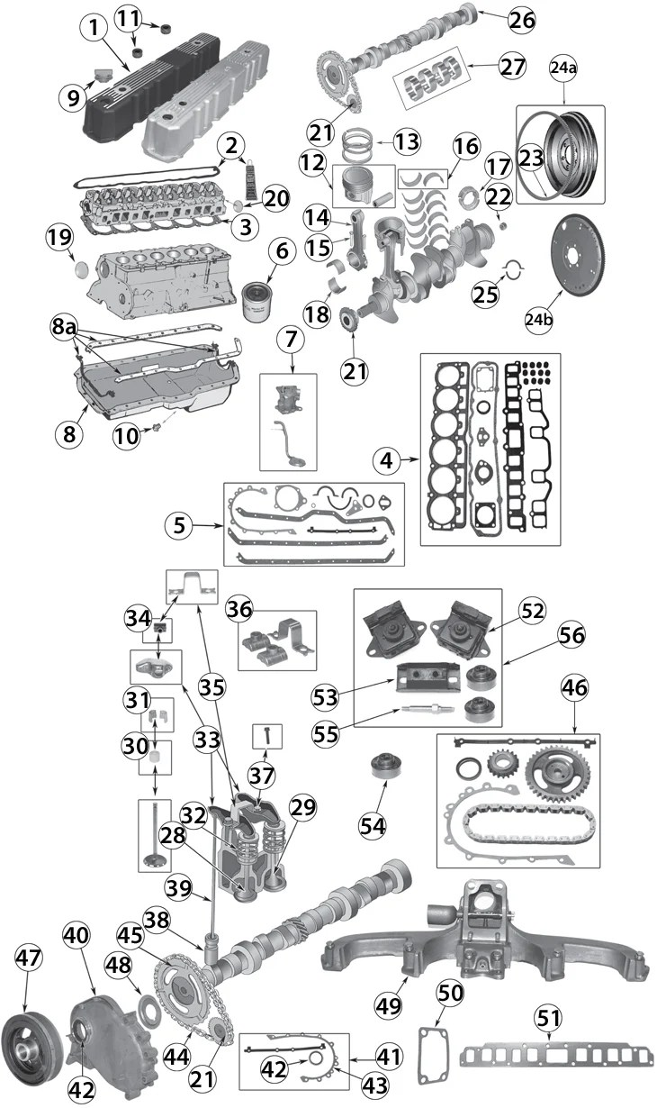 1972-1990 Jeep 4.2L (258ci) Inline 6 Cylinder Engine