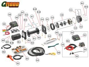 Q11000s Winch Replacement Parts   Quadratec
