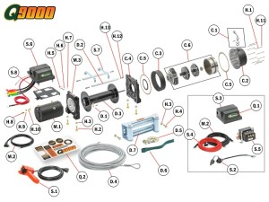 Q9000 Winch Replacement Parts | Quadratec