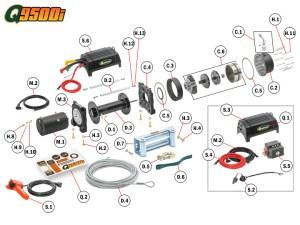 Q9500i Winch Replacement Parts | Quadratec