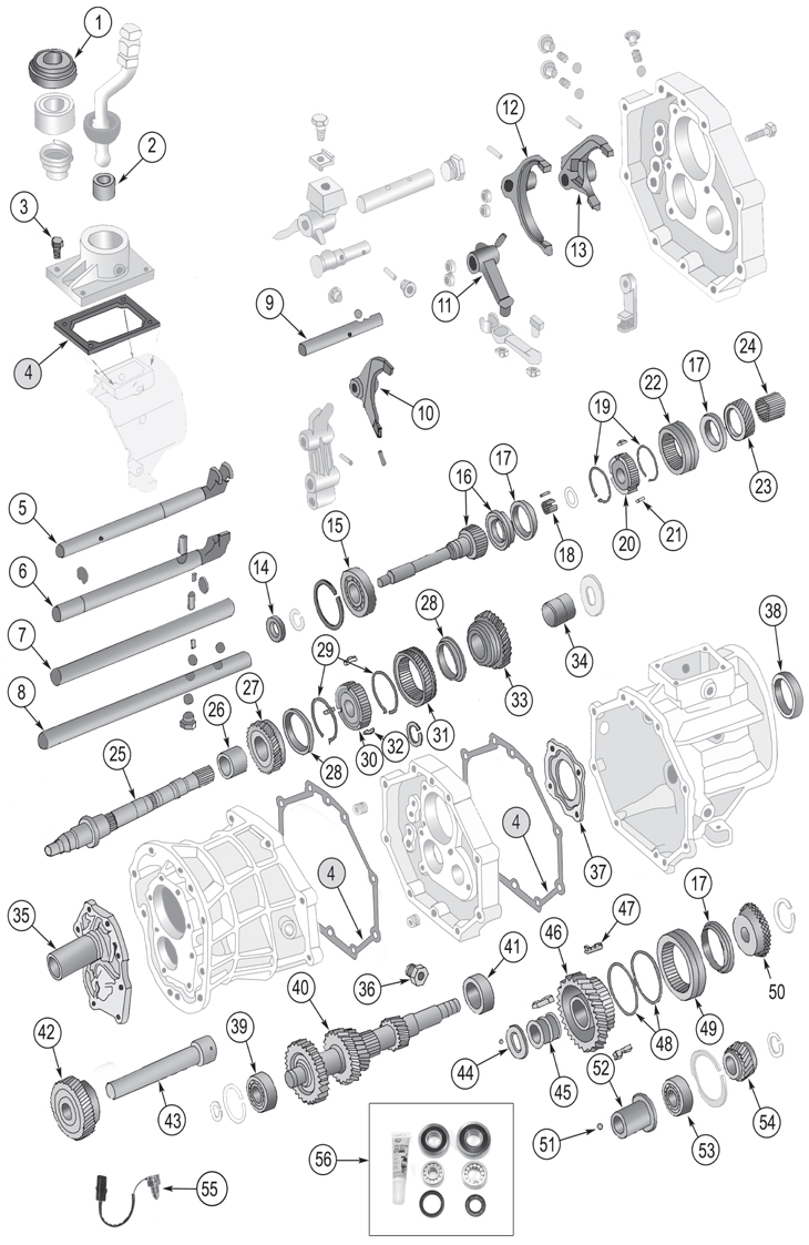 Transmission Master Overhaul Kit AX5 Replaces Part AX5LMASKIT