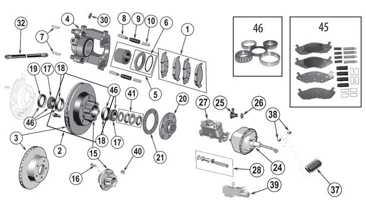 2007 jeep wrangler parts diagram plug wiring australia cj series front brake ('76-'86)   quadratec