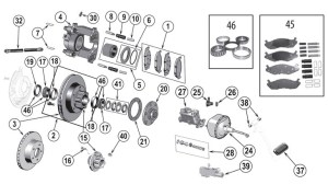 Jeep CJ Series Front Brake Parts ('76'86) | Quadratec