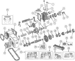 Jeep CJ Series Dana Spicer Model 18 Transfer Case Parts