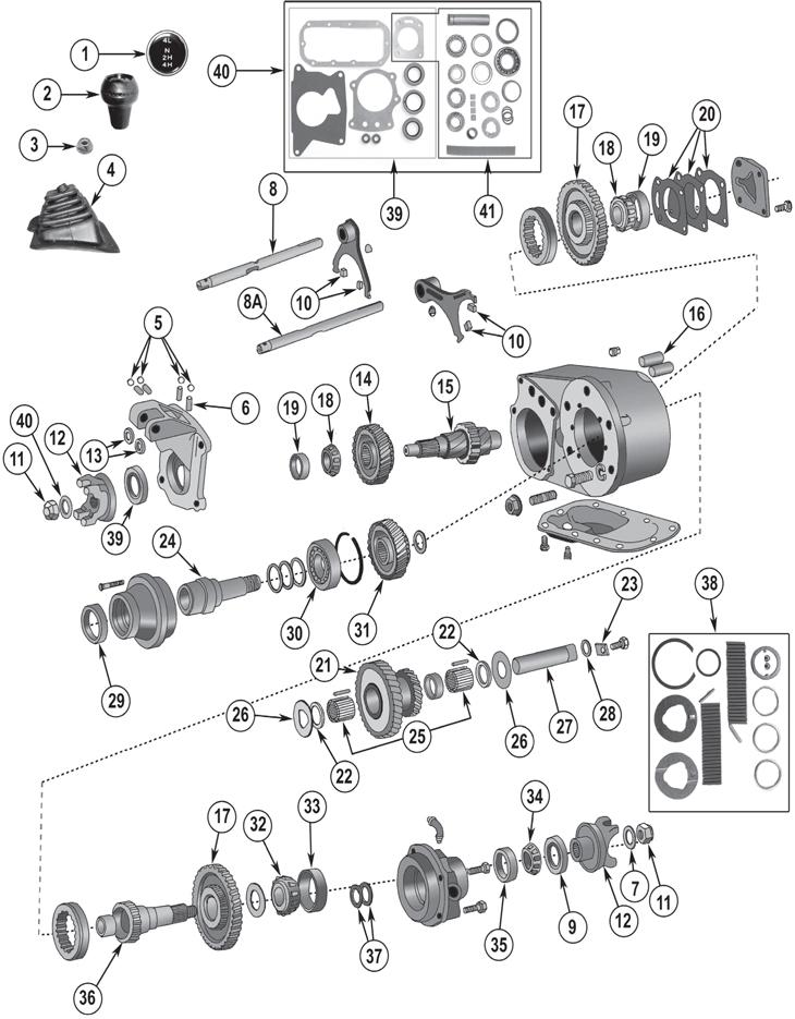 Jeep CJ Series Dana Spicer Model 300 Transfer Case Parts