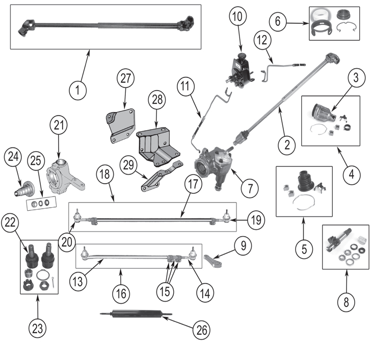 Jeep Cj5 Steering Column Diagram Further Location Of 1984