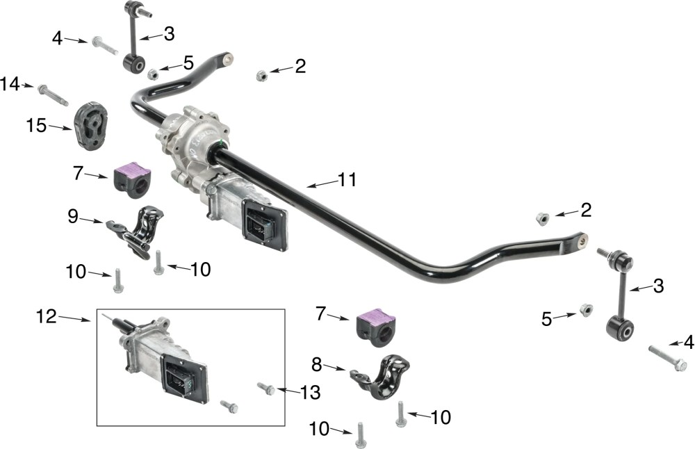 medium resolution of jeep wrangler jk front disconnect stabilizer bar parts