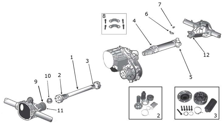 2003 Jeep Liberty Rear Driveshaft Parts Diagram • Wiring