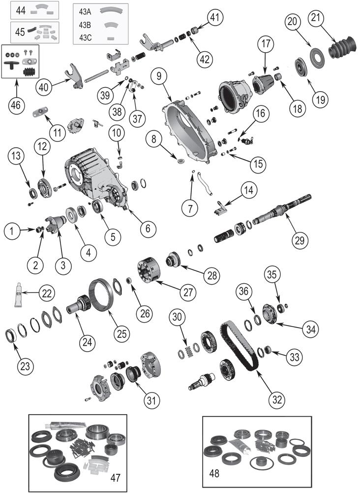 1992 Dodge Dakota Wiring Diagram Np242 Replacement Parts 84 07 Quadratec