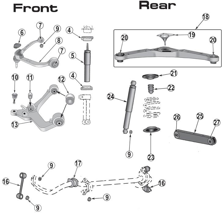 2004 Jeep Liberty Front Suspension Diagram. Jeep. Auto