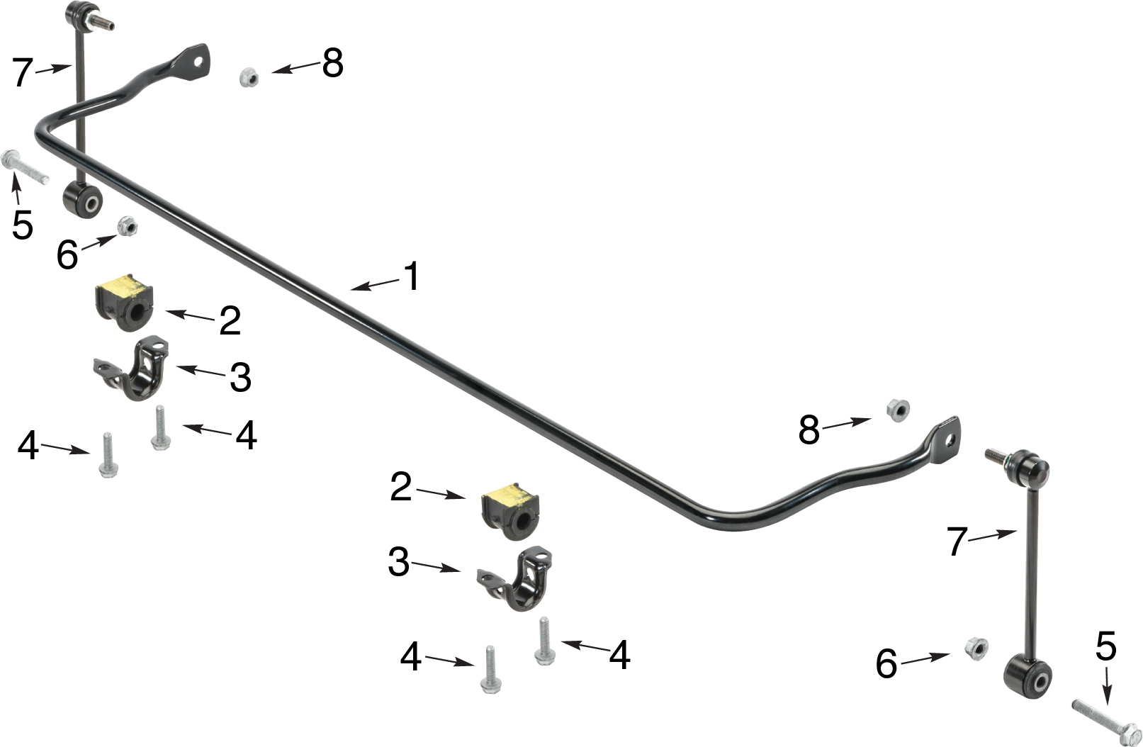 jeep jk front end diagram 3 way speaker crossover wiring wrangler rear stabilizer bar parts quadratec
