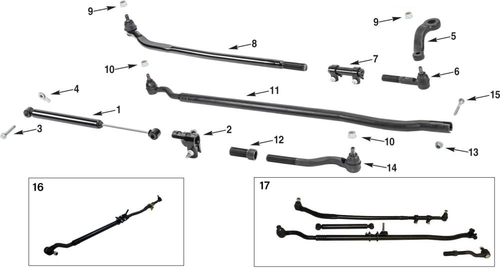 medium resolution of jeep wrangler jk steering linkage parts