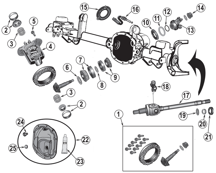 Dana 50 Front Axle Diagram