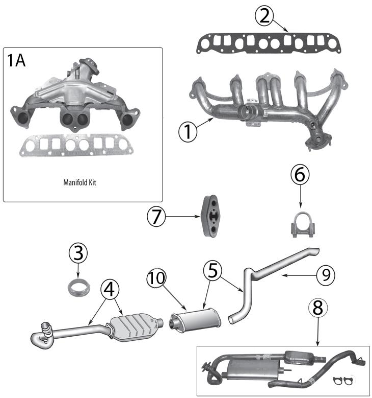 jeep wrangler tj exhaust parts 97 06