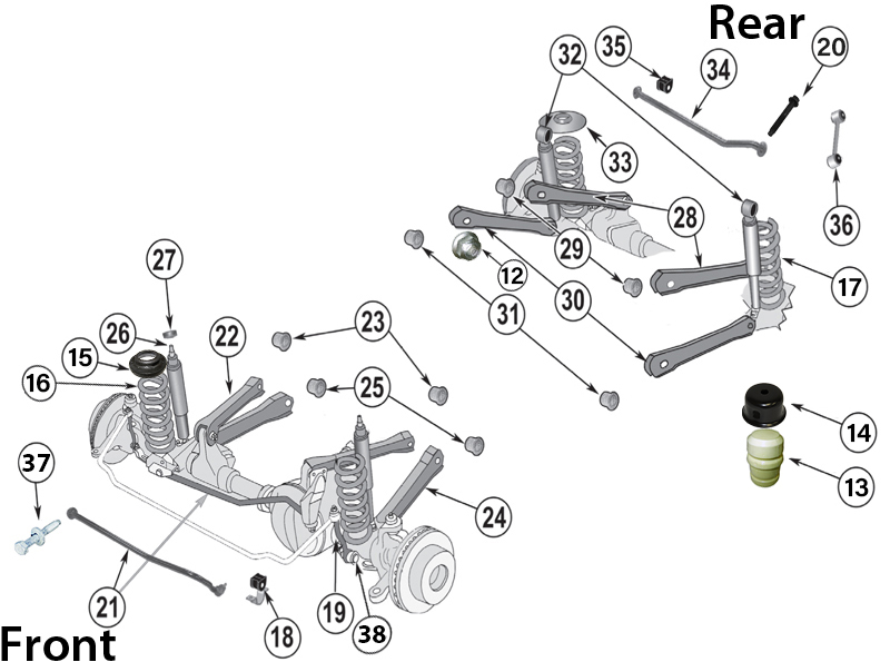 jeep tj front suspension diagram comcast cable tv hookup wrangler parts 97 06 quadratec if you are looking for oem replacement or want to upgrade your we have everything that will need