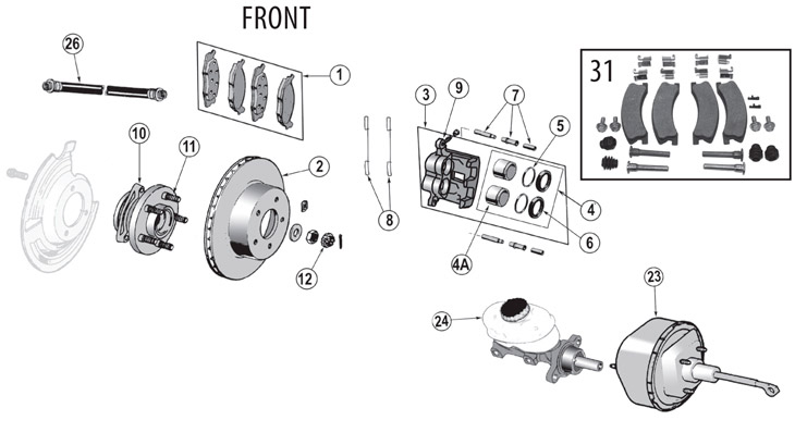 Service manual [2004 Jeep Liberty Front Brake Rotor