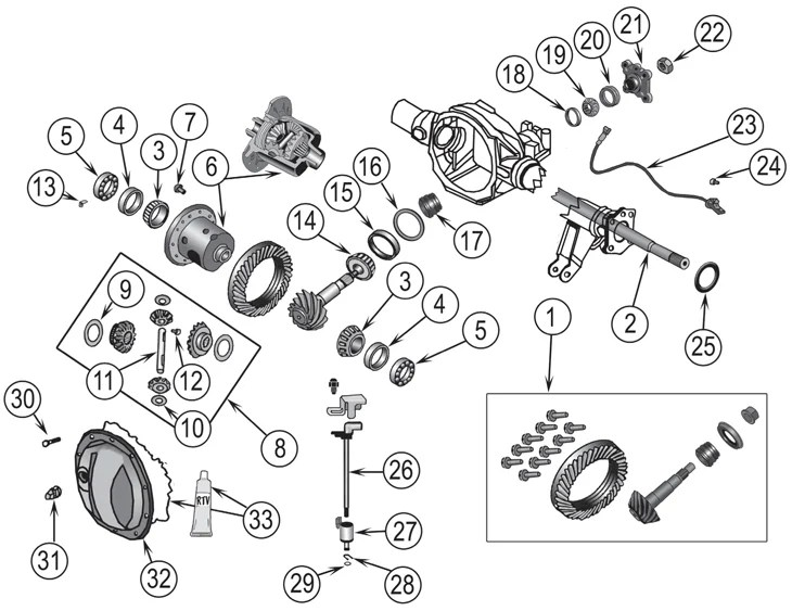 2006 Jeep Commander Front Axle Parts Diagram