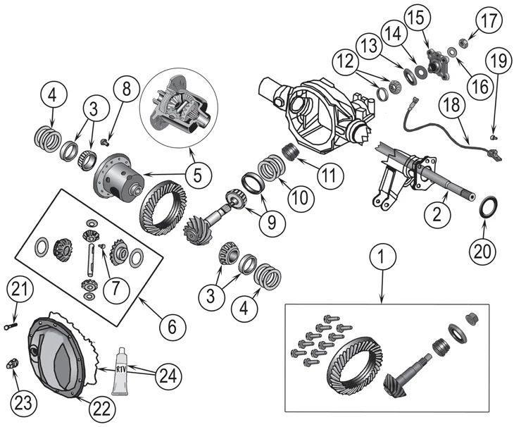 jeep cherokee differential diagram