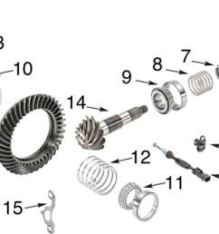 jeep wrangler jk dana 44 rubicon rear differential parts exploded diagram [ 1836 x 730 Pixel ]