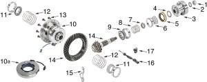 Jeep Wrangler JK Dana 44 Rubicon Rear Differential Parts