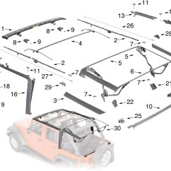 2002 Jeep Liberty Parts Diagram 2004 Arctic Cat 650 V Twin Wiring Wrangler Jk Soft Top Hardware 4 Door | Quadratec